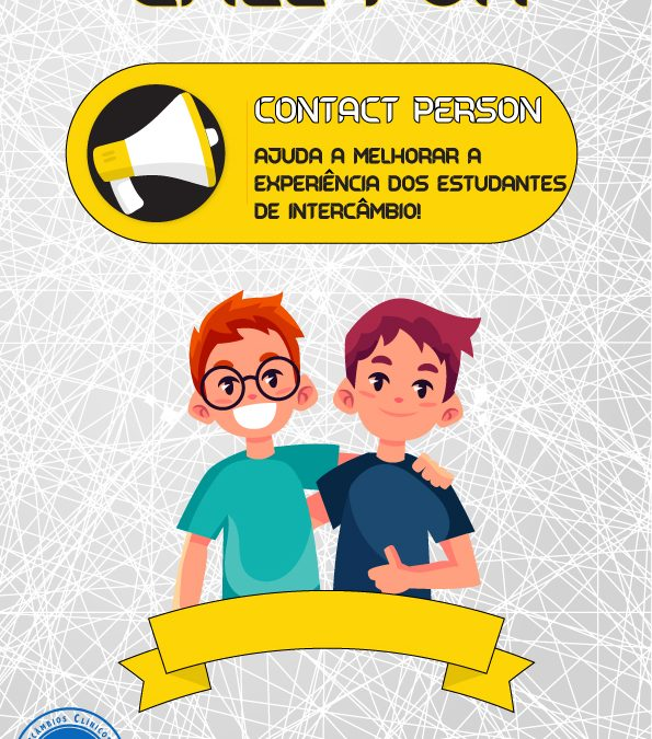 Call for Contact Person – 2º Fase