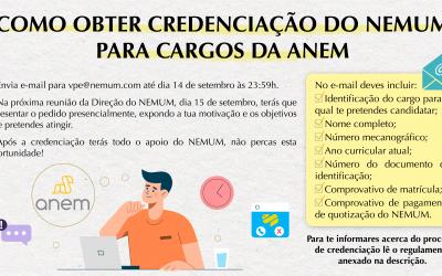 Como obter credenciação do NEMUM para cargos da ANEM?